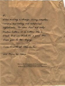 Message on a bag